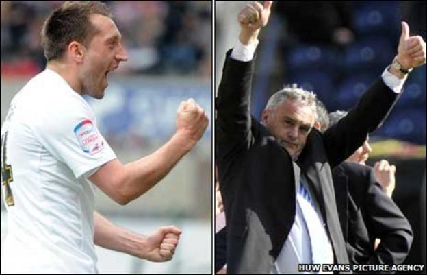 Swansea striker Stephen Dobbie and Cardiff boss Dave Jones