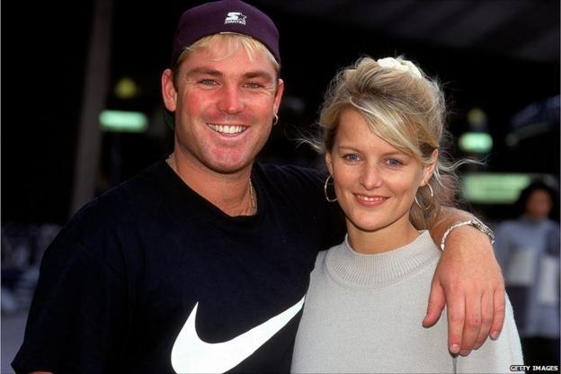 Shane and Simone Warne
