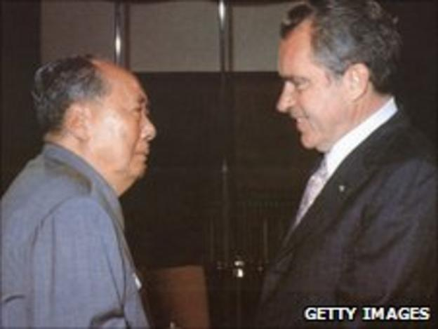 Chairman Mao Zedong and President Nixon