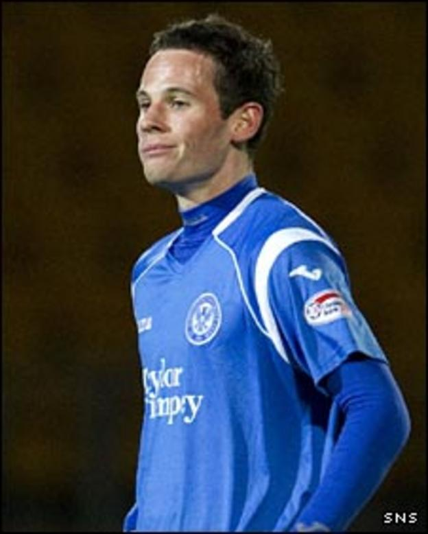 St Johnstone midfielder Kevin Moon
