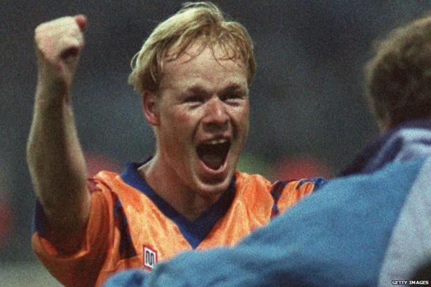 Koeman celebrates his goal