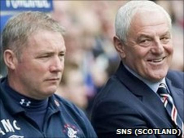 Rangers manager Walter Smith and his assistant Ally McCoist