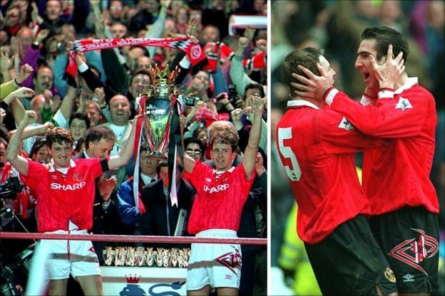 Manchester United win the title in 1993