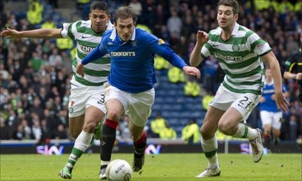 Rangers lead Celtic by one point going into the final day of the season