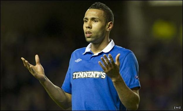 Kyle Bartley in Rangers colours