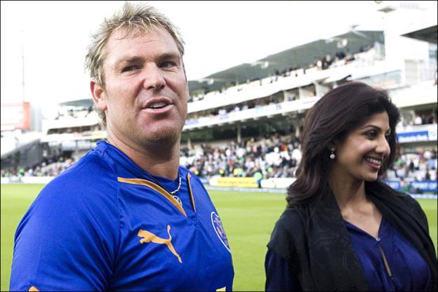 Shane Warne and Shilpa Shetty