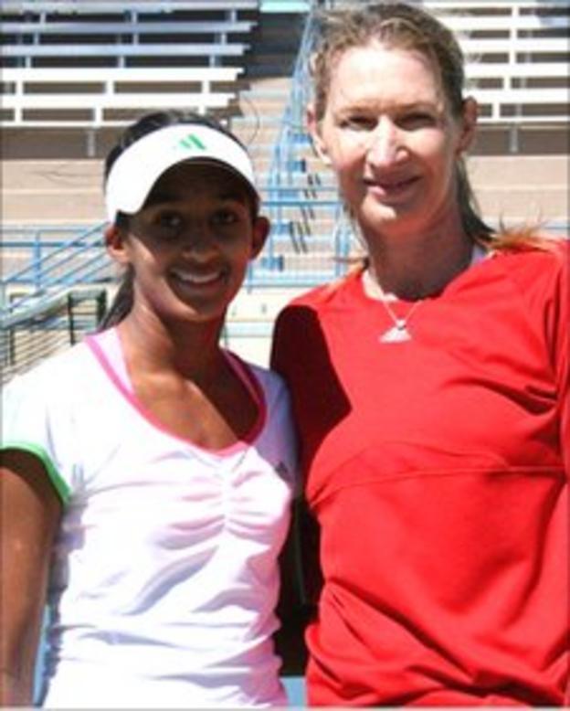 Naiktha Bains and Steffi Graf