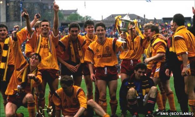 Motherwell's 1991 Scottish Cup winning squad