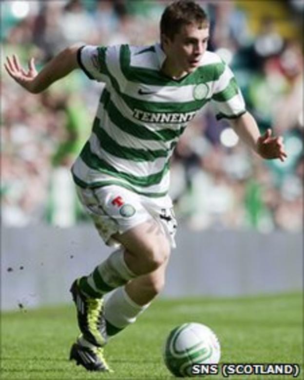 Celtic midfielder James Forrest