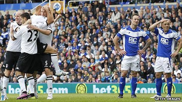 Birmingham suffer a 2-0 loss to Fulham