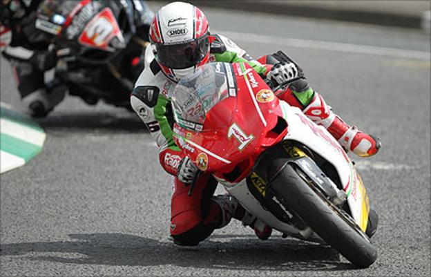 Michael Rutter headed the Superbike times
