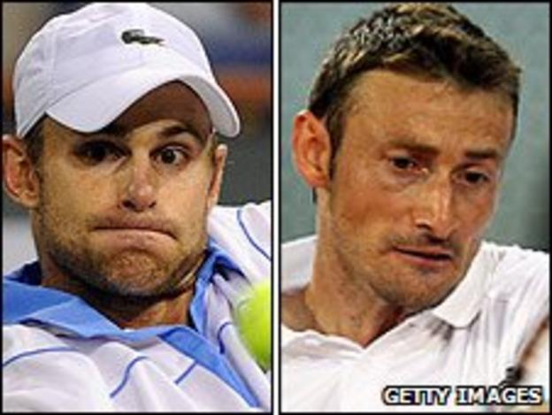 Andy Roddick and Juan Carlos Ferrero