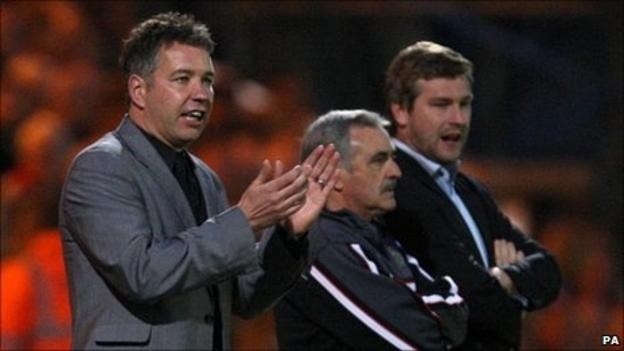 Darren Ferguson, John Gorman and Karl Robinson
