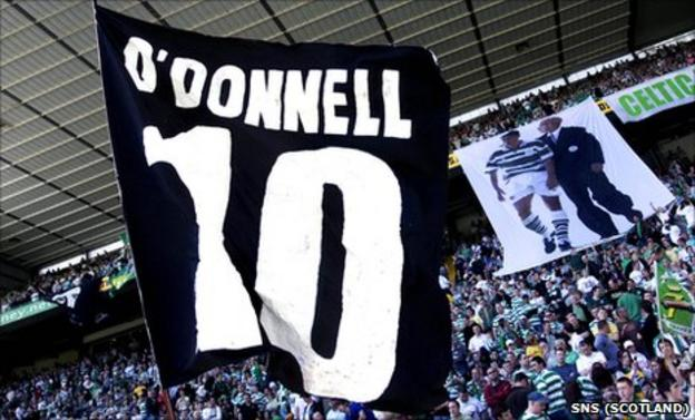 Supporters pay homage to Phil O'Donnell
