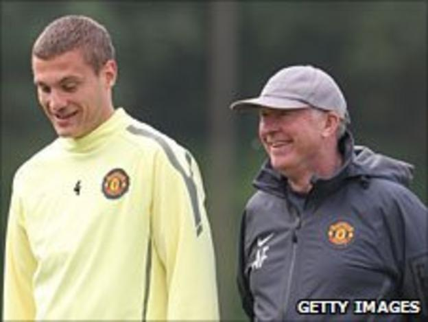 Nemanja Vidic and Sir Alex Ferguson