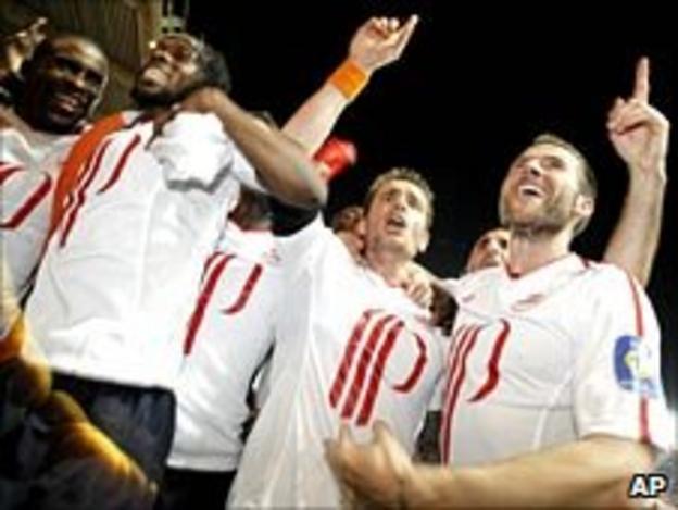 Lille celebrate