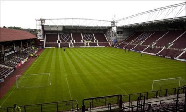Tynecastle Stadium, home of Heart of Midlothian