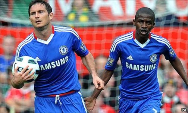 Chelsea midfielders Frank Lampard and Ramires