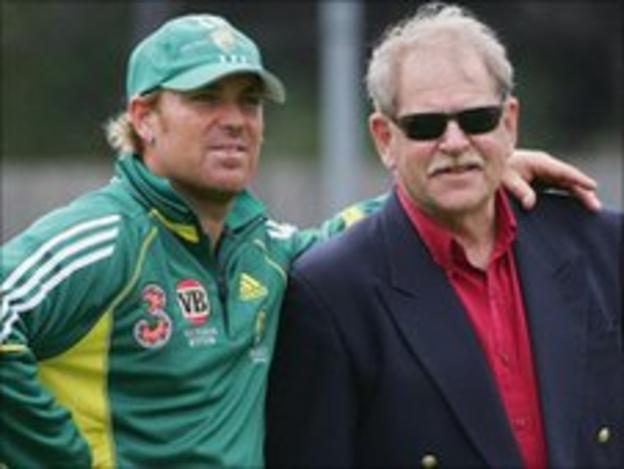 Shane Warne with his late mentor Terry Jenner