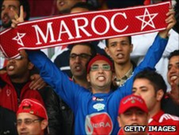A supporter of Morocco's Wydad Casablanca