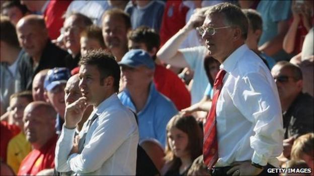 Darren Ferguson and Sir Alex Ferguson