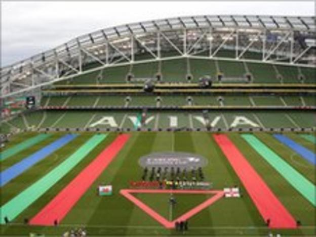 A tiny Aviva Stadium crowd watched the Nations Cup clash