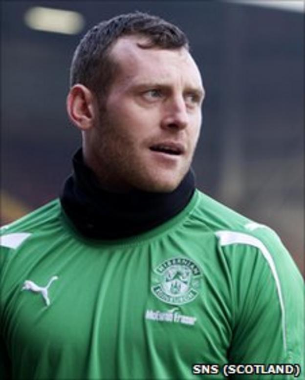 Hibernian goalkeeper Graham Stack