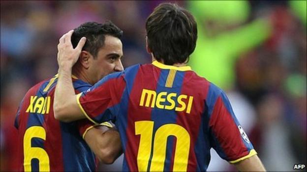 Xavi and Messi