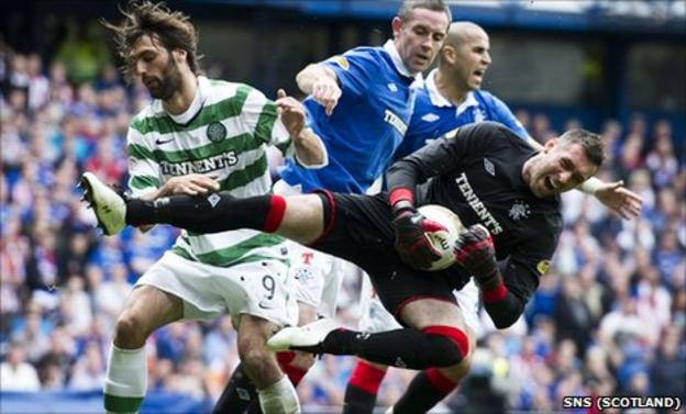 Celtic and Rangers battle it out each year for the SPL title