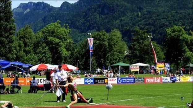 Jessica Ennis competes in Austria