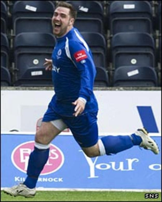 Musselburgh's Chris King enjoys his goal