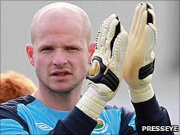 Linfield goalkeeper Alan Blayney