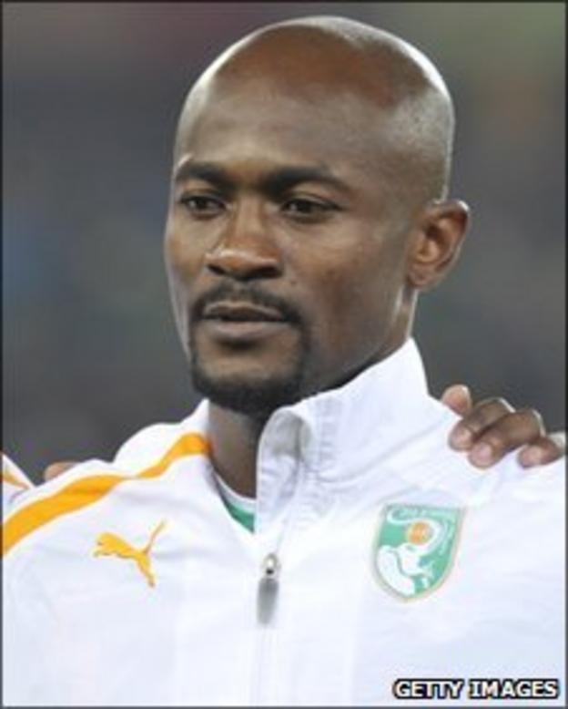 Ivorian midfielder Didier Zokora