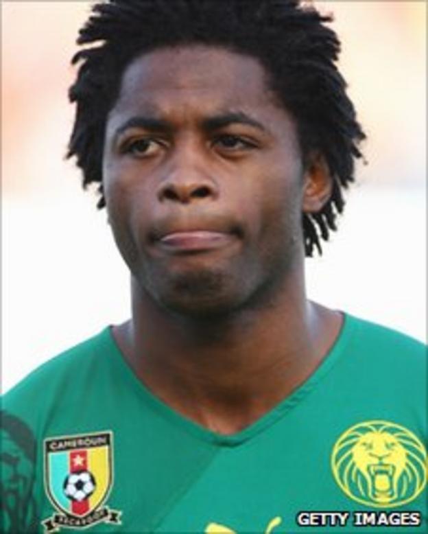 Cameroonian midfielder Alex Song