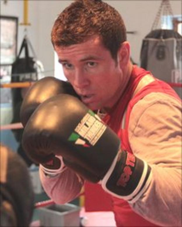 Eamonn O'Kane training earlier this week for his fight in Wales