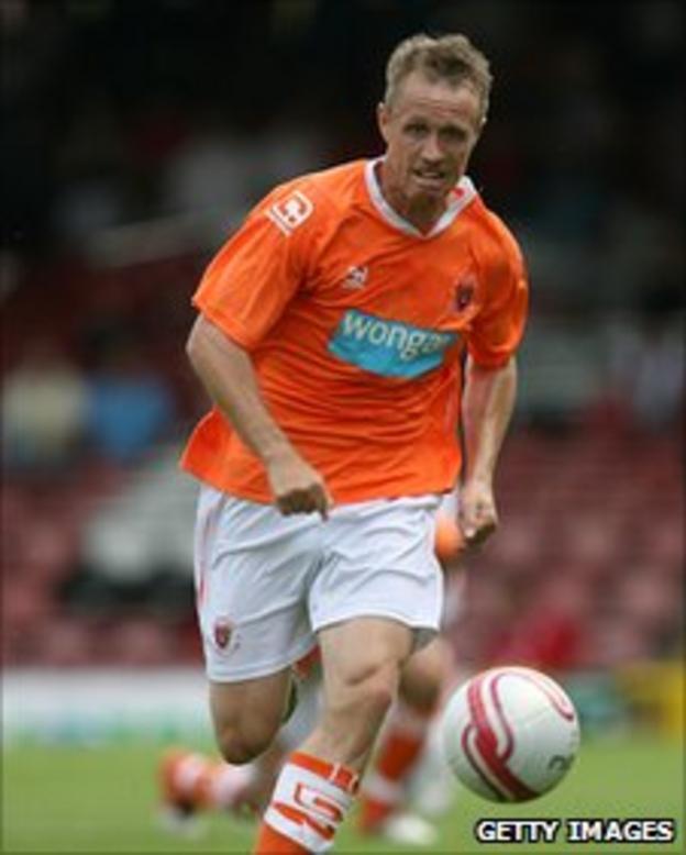 Blackpool striker Brett Ormerod