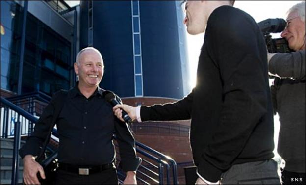 Stewart Milne talks to BBC Scotland's Chris McLaughlin at Hampden