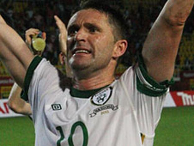 Robbie Keane scored both goals as the Republic of Ireland beat Macedonia 2-0