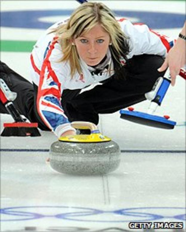 Eve Muirhead in action for Team GB at the 2010 Winter Olympics in Vancouver