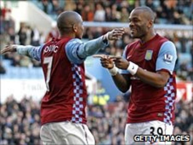 Ashley Young and Darren Bent