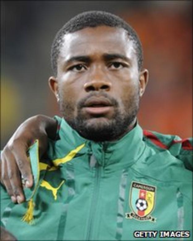 Cameroonian defender Aurelien Chedjou