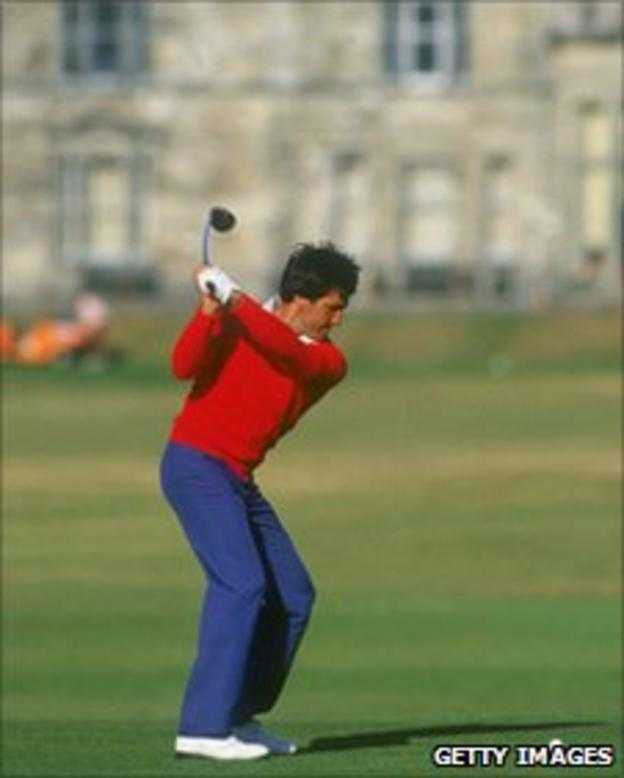 Golfer Seve Ballesteros