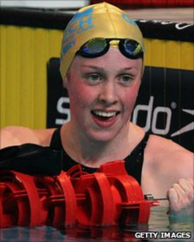 Scottish swimmer Hannah Miley