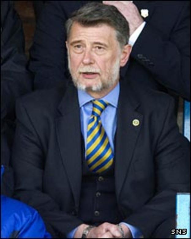 Cowdenbeath chairman Donald Findlay