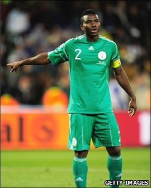 Nigeria captain Joseph Yobo