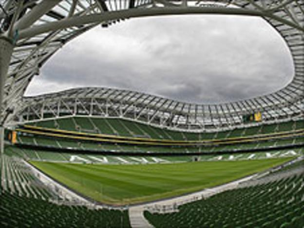 The Aviva Stadium hosted football's Europa League final in May 2011