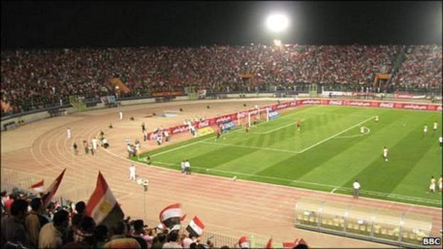 Egypt play South Africa at the Military Academy Stadium in Cairo in June 2011