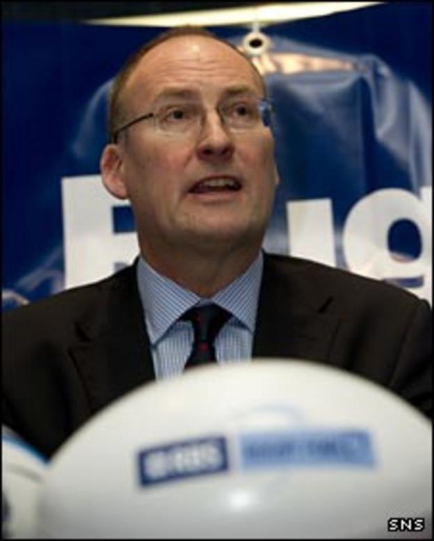 Scottish Rugby Union chief executive Gordon McKie