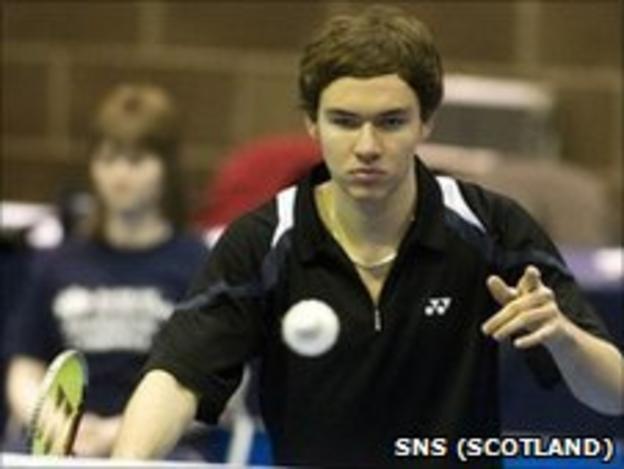 Scottish badminton player Martin Campbell