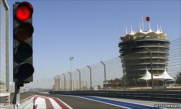 The Sakhir circuit in Bahrain